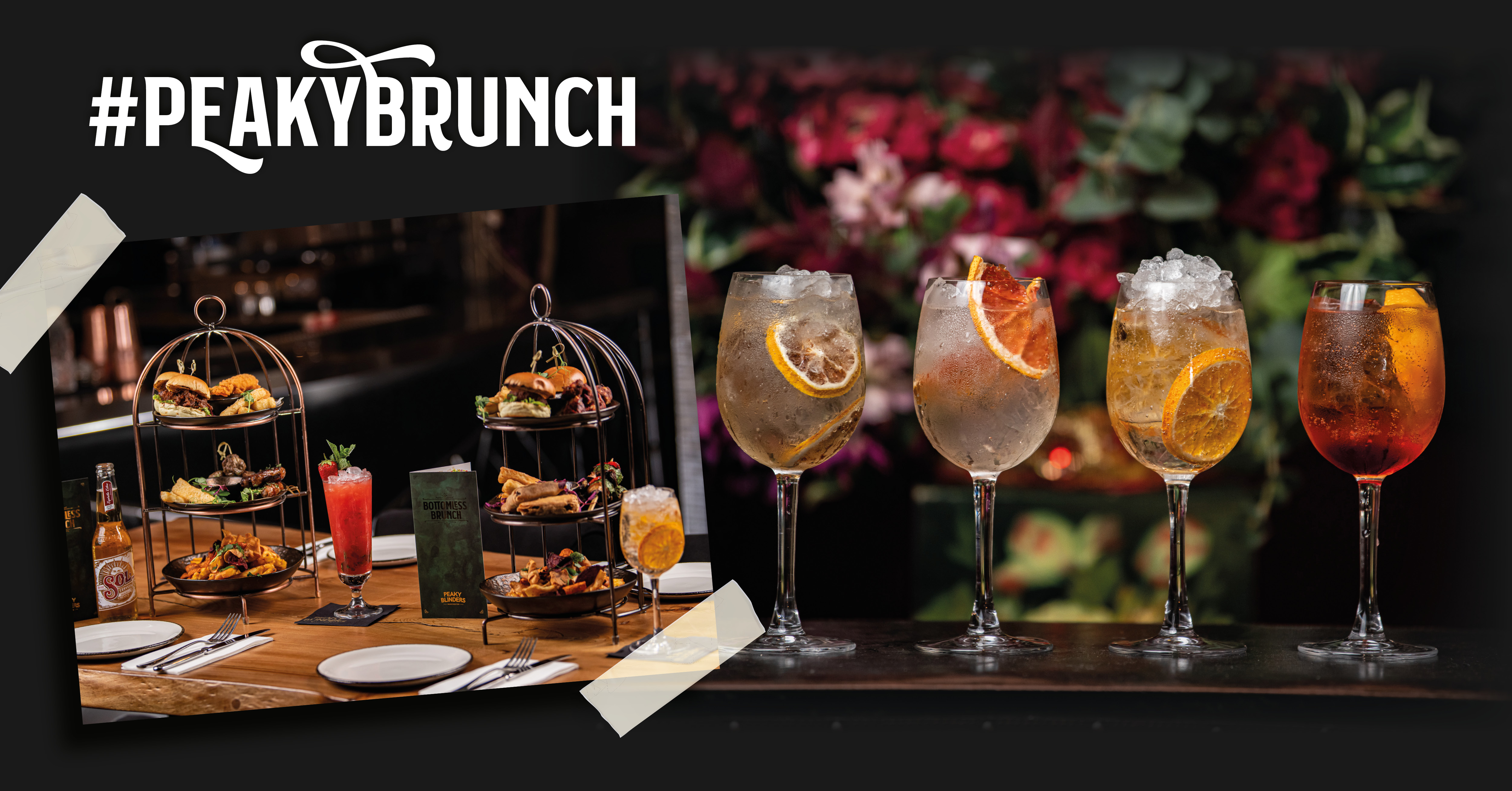 Peaky Bottomless Brunch Manchester Drinks